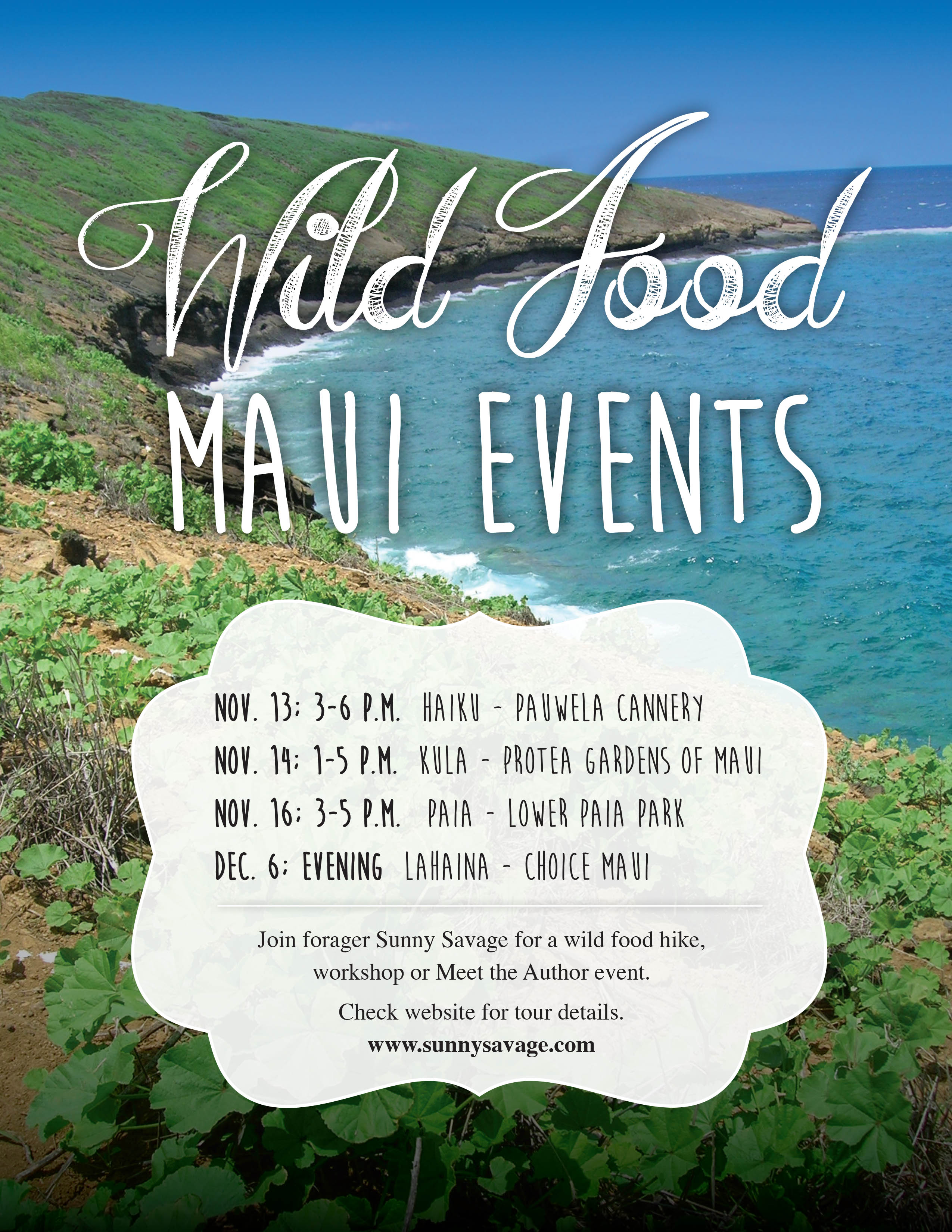 Maui Events one wild food every day tour