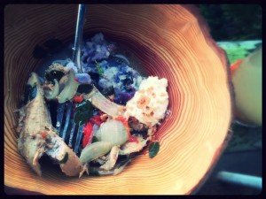 100% Local Meal. Wild ingredients include kukui nuts and wild grass seeds.