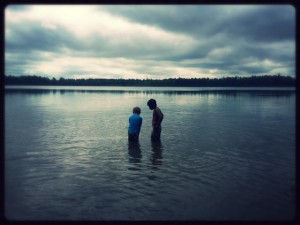 First visit to Star Island for my son Saelyn and I. A lake within an island, within a lake. Northern, Minnesota. Photo by Sunny Savage